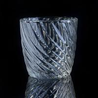 Wholesale Hot Popular 8OZ Wax Twisted Lines glass cylinder candle holders For Decor from china suppliers