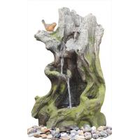Wholesale Old Wooden Stake Decorative Outdoor Tiered Water Fountains In Cement Material from china suppliers