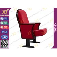 Wholesale Wooden Back Lecture Hall Chair Cold Rolled Steel Feet For Audience Seating from china suppliers
