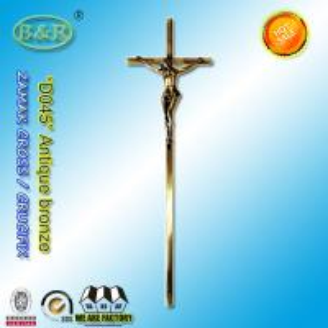 Wholesale 56.7*15.8cm Catholic  Zinc Cross For metal Coffin Decoration D045 zamak crucifix European style antique bronze from china suppliers