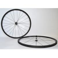 Wholesale Stabilized Structure Carbon Tubeless Road Wheels , Road Bike Race Wheels 23mm Rim Width from china suppliers