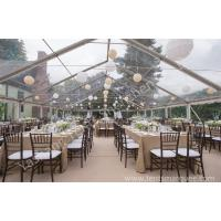 Wholesale Outside Transparent Party tent with clear roof , PVC Fabric with UV Resistance from china suppliers