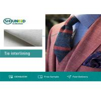 China White Polyester Tie Interlining Fabric For Silk Tie Shrink Resistant on sale