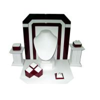 Wholesale Luxury Jewelry Display Stands / Necklace Display Stand Burgundy Color from china suppliers