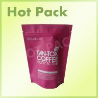 China Tan - Tox Coffee Body Scrob Laminated Stand Up Resealable Pouch With Ziplock on sale