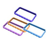 Wholesale Blue / Purple Cell Phone Silicone Case, Bumper Cases For Apple IPhone OEM from china suppliers