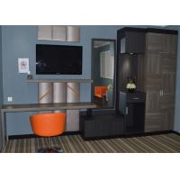 Quality Contemporary Hotel Furniture Formica Laminate Fireproof Panel Hotel Bedroom Set for sale