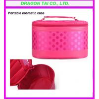Wholesale Red portable cosmetic case with zipper , makeup bags, cosmetic box from china suppliers