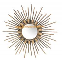 Wholesale China Factory Good Price Gold Finish Sunburst Decorative Wall Mirror For Home Decor from china suppliers