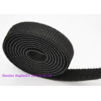 Wholesale 3 / 4 Inch Self Locking Black  Straps , Double Sided  Roll OEM / ODM Acceptable from china suppliers