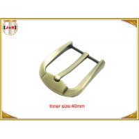 Wholesale Fashion Gold Zinc Alloy Pin Belt Buckle For Man / Boy 40mm Customized from china suppliers