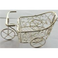 Quality METAL WIRE TRICYCLE IN SILVER PLATED,WIRE CRAFT for sale