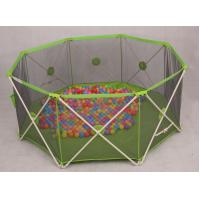 Wholesale Green Mesh Round Babies Playpens / 8 Panel Baby Play Yard Eco Friendly from china suppliers