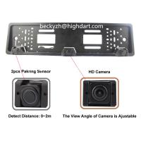 Quality DV12 European License Plate Rear View Reverse Camera Night Vision With 1pc HD Camera 2pcs Sensor for sale