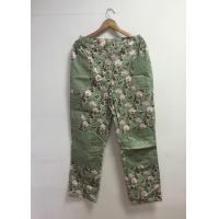 Wholesale Floral Printed Cotton Custom Working Clothes Long Work Pants For Women from china suppliers