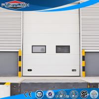 Buy cheap Automatic Lifting  Insulated High Strong Wind Resistant PU Sandwich Panel Sectional Overhead Industrial Door from wholesalers