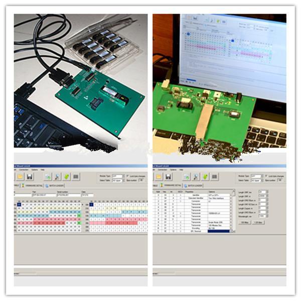 sfp xfp gbic qsfp optical transceiver programmer board