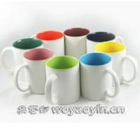 Wholesale Export RUSSIA inside colors Firing LOGO ceramic mug custom LOGO 7102 mark cup from china suppliers