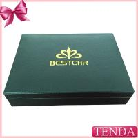 Wholesale Top Rated Best Custom Silver Golden Logo Wood Real Black Leather Packing Box with Velvet EVA Holder from china suppliers