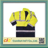 Wholesale Hi Viz High Visibility Winter Protection Reflective Safety Coat Security Clothing Polyster & Oxford from china suppliers