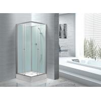 Wholesale Fitness Halls 800 X 800 Glass Shower Cabin With Silver Aluminum Frame from china suppliers