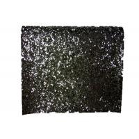 Wholesale Synthetic Leather Pu Shiny Glitter Fabric , Black Sparkle Glitter Fabric from china suppliers