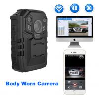 Wholesale PC Real - Time Police Body Worn Camera For Police Officers , Support 3G / 4G / WIFI from china suppliers