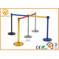 Wholesale Stainless Steel Crowd Control Stanchions With 2 m Nylon Retractable Belt from china suppliers