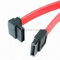 Wholesale SATA Cable with Right Angle Male Female Socket Connector from china suppliers