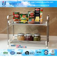 Wholesale Fancy Metal Steel Kitchen Towel Rack , Two-way Cookhouse Commodity Shelf from china suppliers