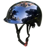 Wholesale Fashionable Urban Bike Helmet Skateboard , Shiny Road Cycling Helmet With Visor from china suppliers