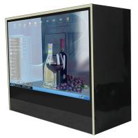"Wholesale Museum 21.5"" Stand Alone HD Transparent LCD Display Box / Touch Screen Kiosk from china suppliers"