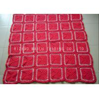 Wholesale Red Crochet Flower Blankets Personalized Kids Crochet Blankets With Multi Compartments from china suppliers