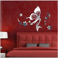 Quality Mirror wall stickers beauty salon bedroom kindergarten shop decoration mirror stickers for sale