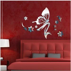 Buy cheap Mirror wall stickers beauty salon bedroom kindergarten shop decoration mirror stickers from wholesalers