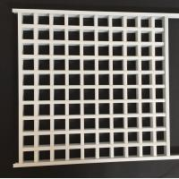 Wholesale White Powder Coated Metal Grid Panel With Tee Bar , Commercial Suspended Ceiling from china suppliers