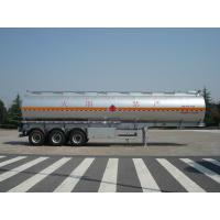 Wholesale 46000 Liters Aluminum Fuel Oil Tank Trailer With 12T BPW 3 axles Petroleum Tanker Trailers from china suppliers