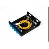 Buy cheap LC FC SC 4 Port Fiber Optic Distribution Frame ODF 8 Port Black Terminal Box ODF from wholesalers