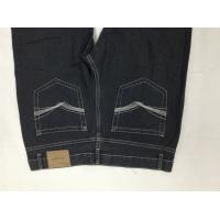 Wholesale Embroidered Special Pockets Mens Slim Straight Jeans Black Customized Printing from china suppliers