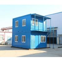 Wholesale steel structure movable worker camp two stories flat pack container house from china suppliers