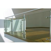 Wholesale Interior Stainless Steel glass balustrade fittings, laminated glass balustrade from china suppliers