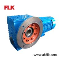 China SAF77 speed reducer Helical-worm gearmotor hollow shaft industrial gearbox on sale