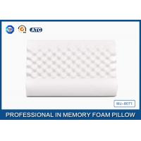 Wholesale Ventilated Wave Memory Foam Neck Massaging Pillow With Velvet Breathable Cover from china suppliers