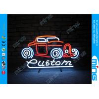 Wholesale Glass Purple Display Neon Sign Lamp for Car Shop , 110V - 240V AC from china suppliers