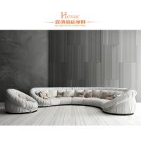 Wholesale Hotel Lobby Hall Furniture / Modern Sofa Sets Yellow and White from china suppliers
