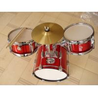 Wholesale Muse Basic Big Red 3 Piece Acoustic Drum Set For Kids / Children MU-3KL from china suppliers