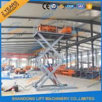 Wholesale CE 3T 4.5M Stationary Hydraulic Scissor Lift Table Scissor Lift Platform for Cargo Material from china suppliers