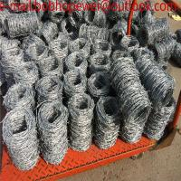Buy cheap Chot dipped galvanized weight of barbed wire per meter length/high tensile barbed wire price per roll from wholesalers