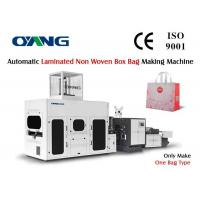 Wholesale Laminated Non Woven Box Bag Making Machine / Bag Manufacturing Machine from china suppliers