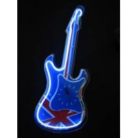 """Wholesale UK Flag 9"""" 12"""" Wall Mounted Blue / Yellow / Red Neon Clock With Chrome / Painted Frame from china suppliers"""